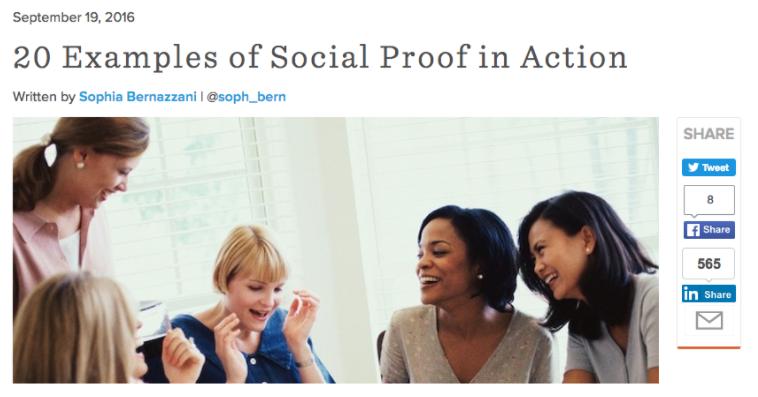 business blog - leverage social proof